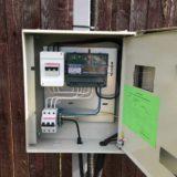 Подключение электричества и установка трубостоек в Подмосковье